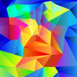 Colourful geometric crystal background Royalty Free Stock Photos