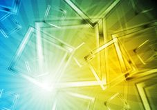 Colourful geometrical backdrop Royalty Free Stock Photo