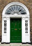 Colourful Georgian door in Dublin city, Merrion Square, Ireland. In Europe stock images