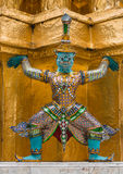 The colourful giant statue at Wat Pra Si Rattana Satsadaram Stock Image