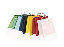 Colourful gift bags Royalty Free Stock Photos