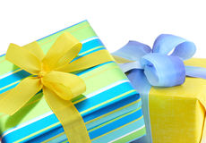 Colourful gift boxes Stock Photo