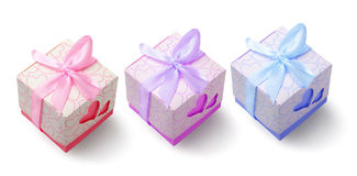 Colourful Gift Boxes Stock Photos