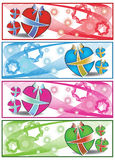 Colourful Gift  web banners Stock Photos