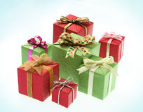 Colourful gifts. On white background Royalty Free Stock Photography