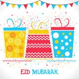 Colourful Gifts for Eid Mubarak celebration. Stock Images