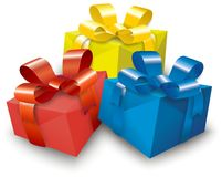 Colourful gifts Royalty Free Stock Image