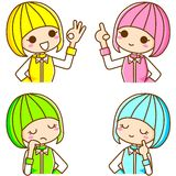 Colourful girl. This is a colorful illustration of a girl Stock Photography