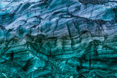 Colourful glacier pattern. Close up of a glacier, New Zealand Stock Images