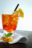 Colourful glass of aperol spritz Stock Image