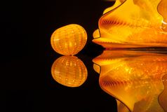 Colourful glass blown sculptures at Dale Chihuly glass exhibit In Tel Aviv. Israel royalty free stock photo