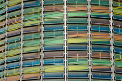 Colourful glass facade Stock Photo