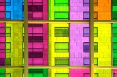 Windows reflection at congres center in Montreal Stock Photos