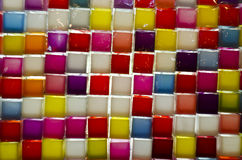 Colourful glass wall. Colourful glass block of wall Royalty Free Stock Photos
