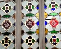 Colourful glass window Stock Image