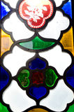 Colourful glass window Stock Photo