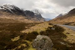 Colourful Glencoe. A landscape photo of Glencoe, Scotland royalty free stock image