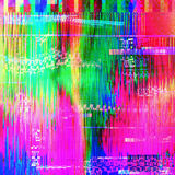 Colourful glitch abstract background Royalty Free Stock Photography