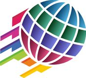 colourful globe logo Royalty Free Stock Image