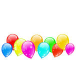 Colourful glossy balloons isolated on white backgr Royalty Free Stock Image