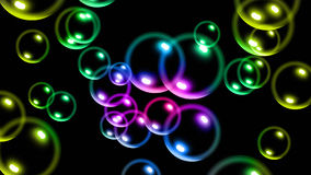 Colourful glowing bubbles  background Stock Photo