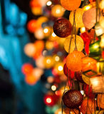 Colourful Glowing Christmas Lights. On beautiful background Royalty Free Stock Image
