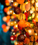 Colourful Glowing Christmas Lights. On beautiful background Stock Images