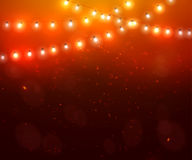 Colourful Glowing Christmas Lights. Colourful Glowing Red Christmas Lights. Vector illustration Royalty Free Stock Photo