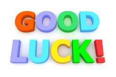 Colourful Good Luck Stock Photo