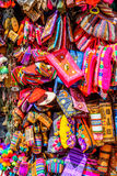 Colourful goods for sale in souvenir shop, Peru Stock Photos