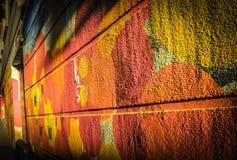 Colourful Graffiti Art on the backstreet walls in Granada,Andalucia,Spain stock photo