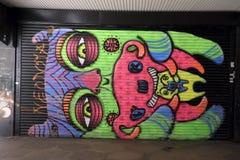 Colourful graffiti w Croydon, UK fotografia royalty free
