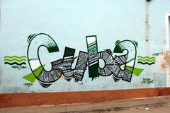 Colourful grafitti in Trinidad, Cuba Royalty Free Stock Photo