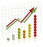 Colourful graph Royalty Free Stock Photos