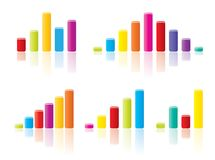 Colourful graph concepts Royalty Free Stock Photos