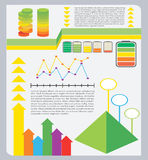 A colourful graphical representation Stock Image