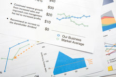 Colourful Graphs Royalty Free Stock Image