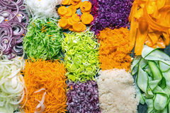 Colourful grated salad Royalty Free Stock Image