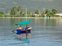 Colourful Greek Fishing Boat Stock Image