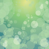 Colourful green bokeh with circles. Eps10 Royalty Free Stock Images