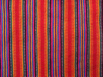 Colourful Guatemalan Fabrics Royalty Free Stock Photos