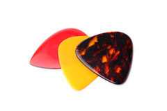 Colourful guitar plectrums Stock Image
