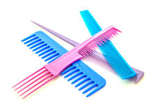 Colourful hair combs Stock Image