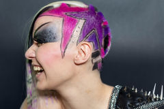 Colourful hair woman Royalty Free Stock Photography