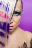 Colourful hair woman Royalty Free Stock Photos