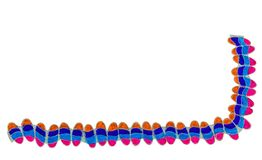 Colourful hand drawn border. Royalty Free Stock Photos