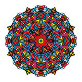 Colourful Hand Drawn Mandala, Oriental Decorative Element, Vintage Style. Stock Photos