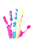 Colourful Hand Print Stock Photos