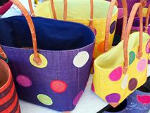 Colourful Handbags Royalty Free Stock Images