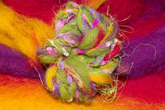 Colourful handmade art yarn Royalty Free Stock Image
